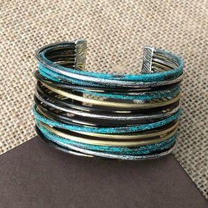New Silpada Silver Patina Brass Wide Cuff Bracelet